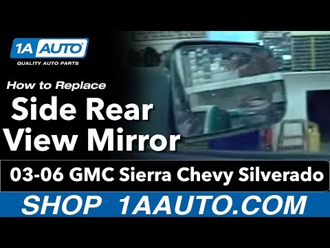 1AAuto.com Install Side Rear View Mirror GMC Sierra Chevy Silverado 1999-2006 Video