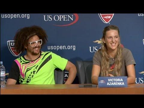 Victoria Azarenka & LMFAO's Redfoo | 2012 US Open Press Conference