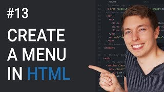 13: How to Create a Menu in HTML | Learn HTML and CSS | HTML Tutorial | CSS Tutorial