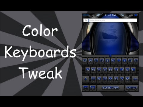 Change Keyboard Color & Style For iPhone 5. 4S. 4. 3GS. iPad 4. 3. 2. iPod Touch 5. 4