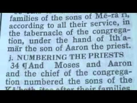 Part 117 Reese Chronological Bible (numbers 4) video