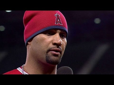 LAA@SEA: Pujols discusses the Angels' 2-0 win