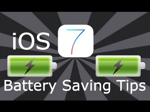 iOS 7 Battery Saving Tips