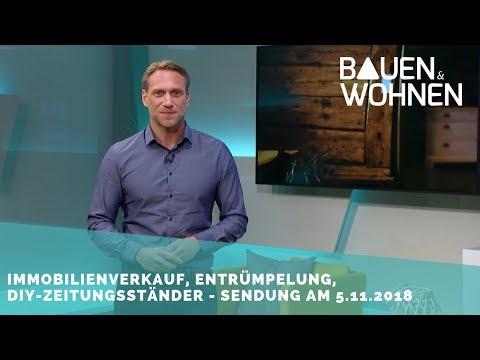 Garagen-System, fugenlose Bäder, Hausentrümpelung, Immobilie verkaufen – Sendung am 5.11.2018