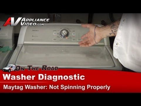 Washer Diagnostic - Not Spinning Properly - Maytag, Whirlpool,Roper,Kenmore, Sears, Amana MVWX550XW1