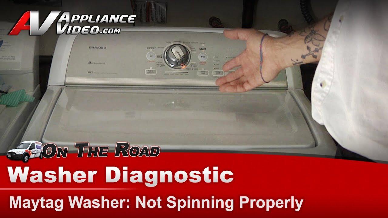 Washer not spinning or draining maytag whirlpool roper kenmore sears amana mvwx550xw1 youtube - Common washing machine problems ...