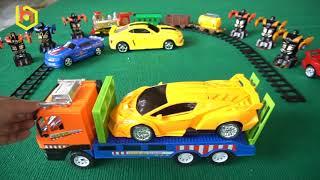 Bá Hiếu TV - ba hieu tv - Xe Ô Tô Điều Khiển Từ Xa Biến Hình Rô Bốt - Yellow and Blu Robo Car Toys