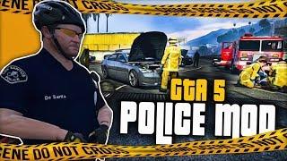 GTA V POLICE MOD   WYPADKI DROGOWE   GAMEPLAY PL