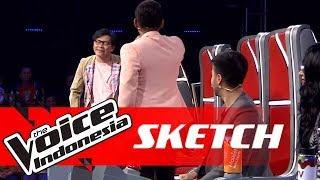 Bertikai! Coach Armand vs Coach Nino dan Coach Vidi 😱   SKETCH   The Voice Indonesia GTV 2018