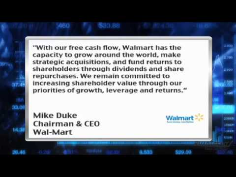 News Update: Wal-Mart (NYSE:WMT) Boosts Dividend 11% as Underlying Operations Remain Strong