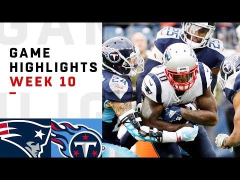 Patriots vs. Titans Week 10 Highlights | NFL 2018