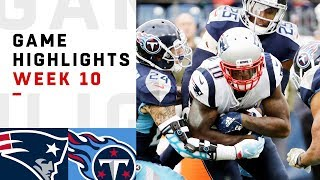 Patriots vs Titans Week 10 Highlights | NFL 2018