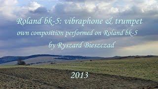 Vibraphone & trumpet - Roland bk-5 own composition (kompozycja własna)