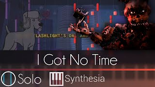 I Got No Time - |SOLO PIANO TUTORIAL w/ LYRICS| - The Living Tombstone -- Synthesia HD
