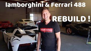 Ferrari 488 REBUILD , Lamborghini Gallardo Paint Shop!!