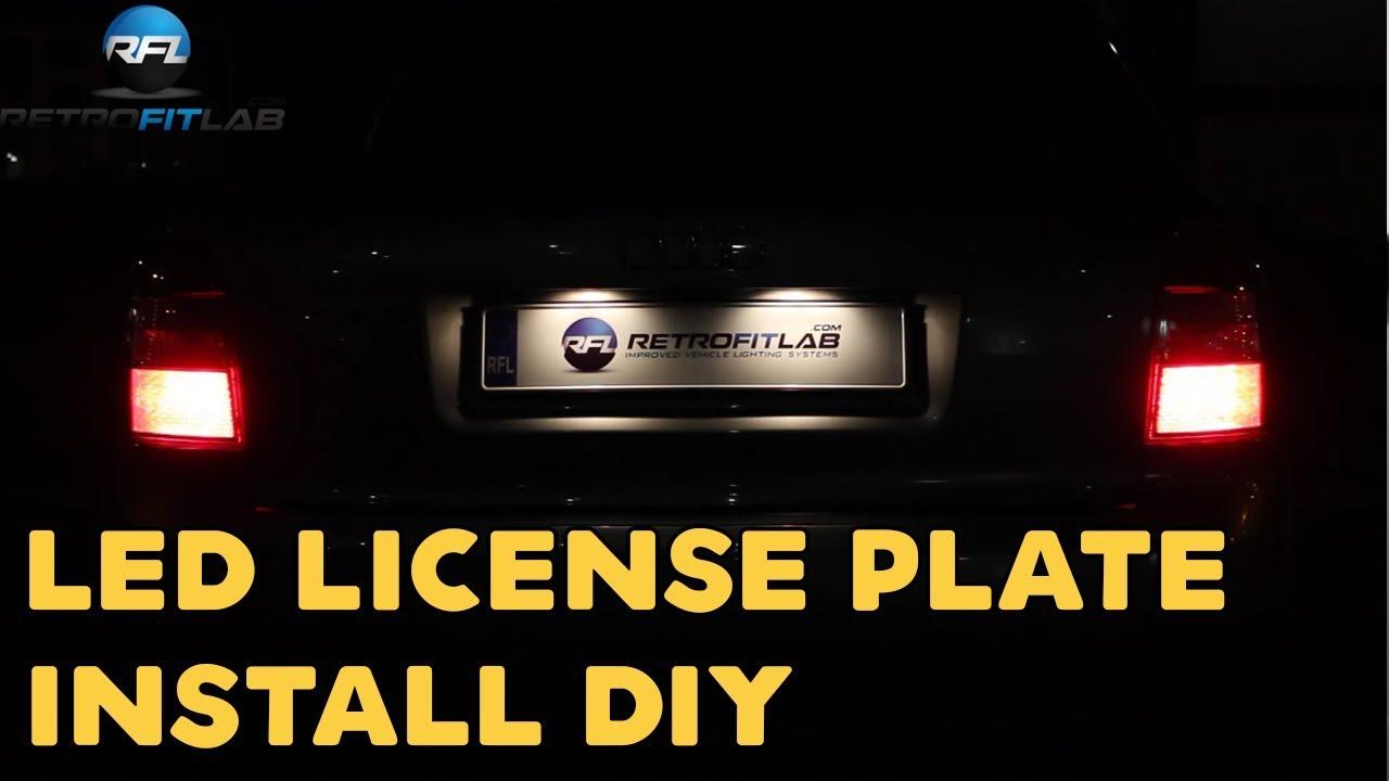 Led License Plate Install Diy Video 4300k Led And 6000k