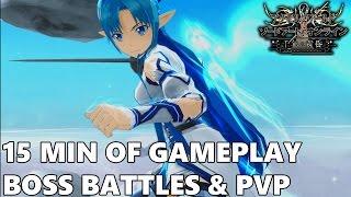Accel World VS Sword Art Online: Mellinnium Twilight - 15 min of Gameplay, Boss Battles & PVP