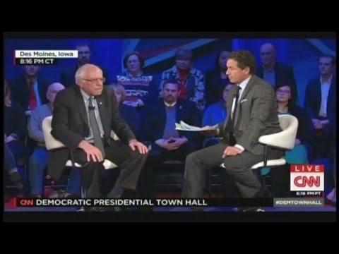 CNN Democratic Presidential Town Hall Des Moines Iowa (January 25, 2016)