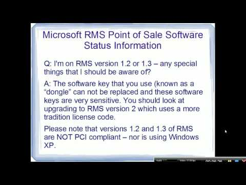 Microsoft RMS Point of Sale Software Status Update and Advice