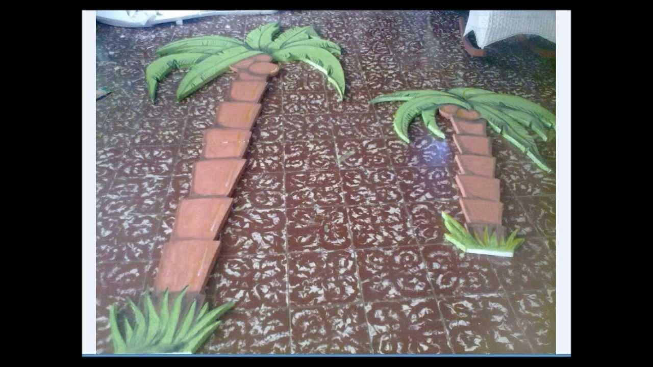 Palmera en porespam o poroplast youtube - Como hacer una palmera artificial ...