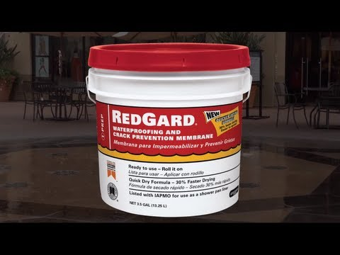 How to Use RedGard® Liquid Waterproofing and Crack Prevention Membrane