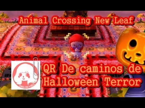 Animal crossing new leaf dise os qr set de halloween for Agrandissement maison animal crossing new leaf