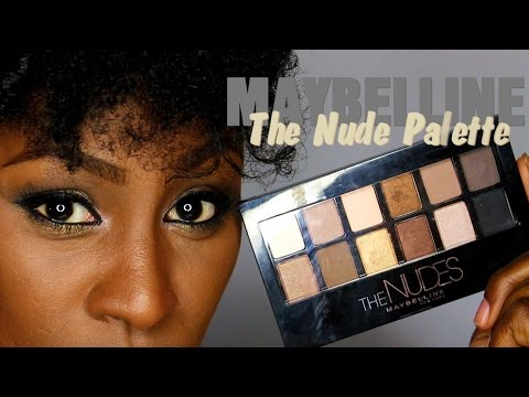new Maybelline The Nude Palette Review & Demo video