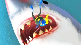 Download Lagu BAT FROG VS GIANT SHARK - Amazing Frog - Part 58 | Pungence Gratis STAFABAND