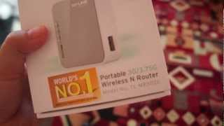 Unboxing of the TP-Link Portable 3G/3.75G Wireless N Router TL-MR3020