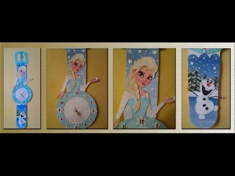 Frozen en un bello reloj de Foamy o Goma Eva ( PARTE 1/2) - YouTube