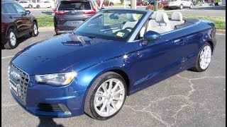 2015 Audi A3 Cabriolet 2.0T Premium Walkaround, Start up, Tour and Overview