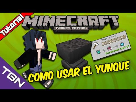 Minecraft Pocket Edition 0.13.1-Como Usar el Yunque Español