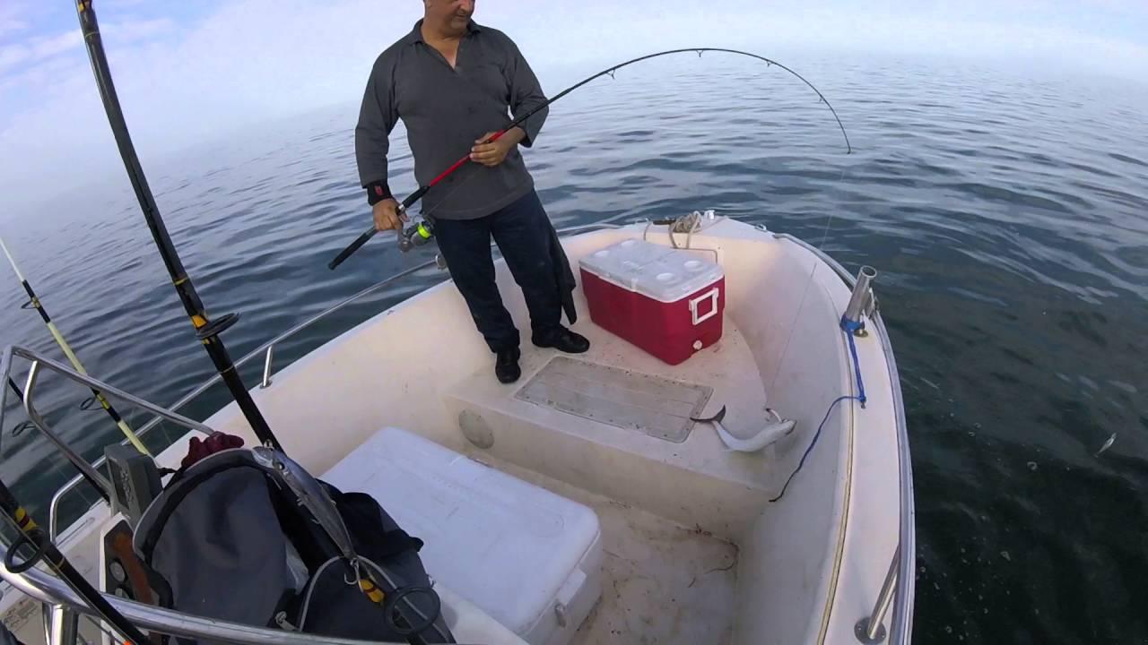 Fishing on artificials 10 fish 1 lure   Spanish Mackerel
