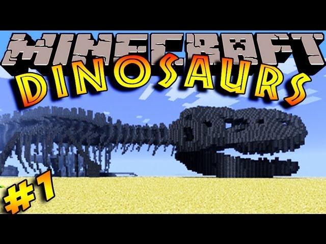 Minecraft Dinosaurs - ( Dinosaur mod ) - Episode 1 - LET'S FIND SOME DINOSAURS!