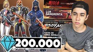 ZEREI A LOJA! GASTEI 200.000 DIAMANTES NO FREE FIRE (7.500 reais)