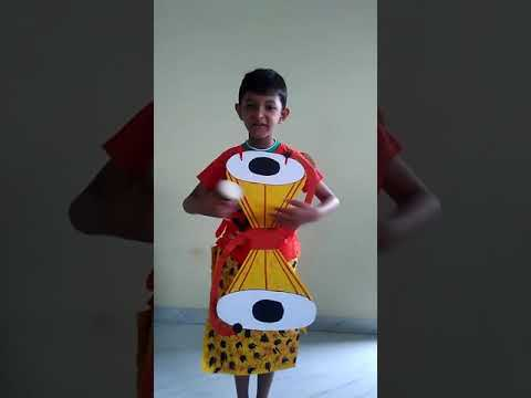 Fancy dress competition indian musical instrument Damru