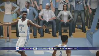 NCAA Basketball 10 (Rosters Updated for 2018 2019 Season) Tennessee Tech vs North Carolina