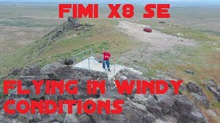 Fimi X8 SE Flight on a windy day at Initial Point in Idaho