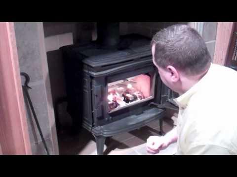 Lighting your wood burning stove