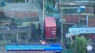Mais um caminhão roubado e levado para dentro de uma comunidade