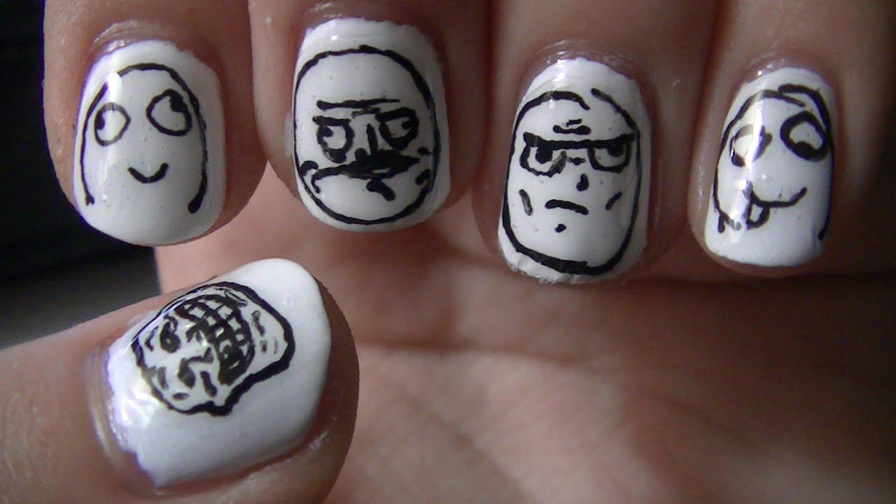 meme face nail art youtube