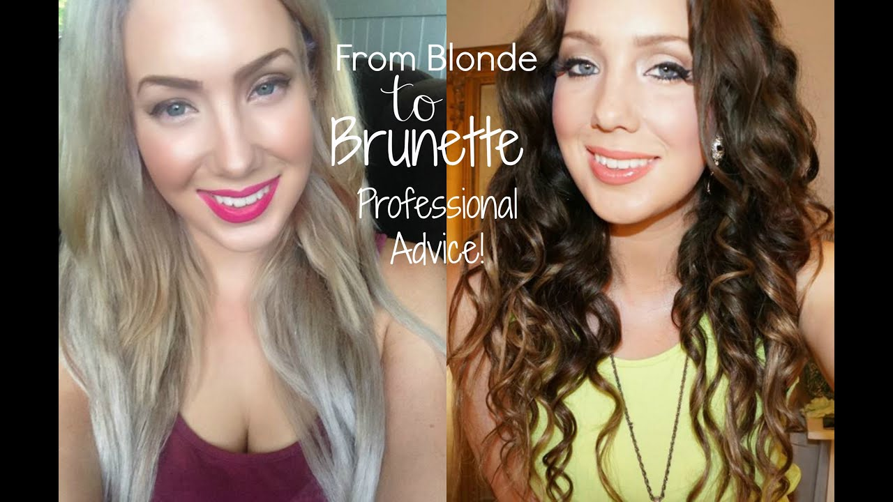 From blonde to brunette hair transfomation how to youtube for 3 brunettes and a blonde salon