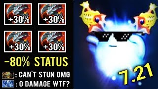 OMG CAN'T STUN HIM! +80% Resistance New Imba 7.21 IO Carry 4x Satanic by Gii Epic Pro Dota 2