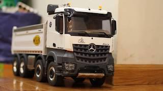 RC truck | Đồ chơi xe tải | xe ben | điều khiển từ xa 4 cầu hệ thống ben thủy lực