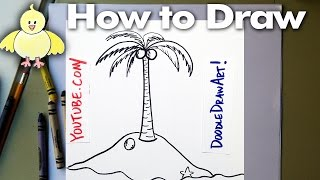 Drawing: How To Draw Cartoon Palm Tree