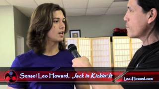 Sensei Leo Howard of Disney XD's Kickin' It Visits Kaizen Dojo