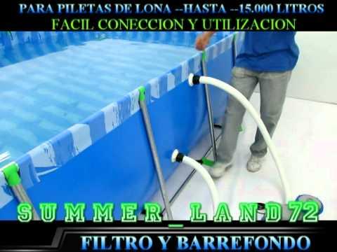 Filtro para piletas de lona f 15 youtube for Filtro piscina intex