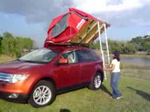 Car Roof Camper Car Roof Tent Youtube