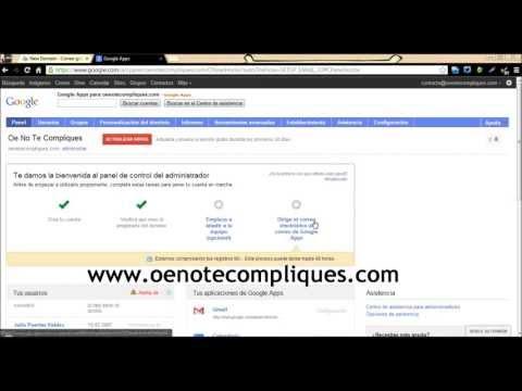 Crear correo de Gmail con tu propio dominio gratis! [HD]