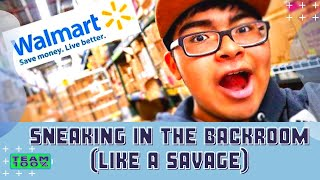 SNEAKING IN BACKROOM AT WALMART (GONE RIGHT) | The 100% Phillip Show!